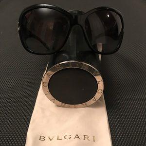Bvlgari Black Sunglasses with Swarovski Crystals